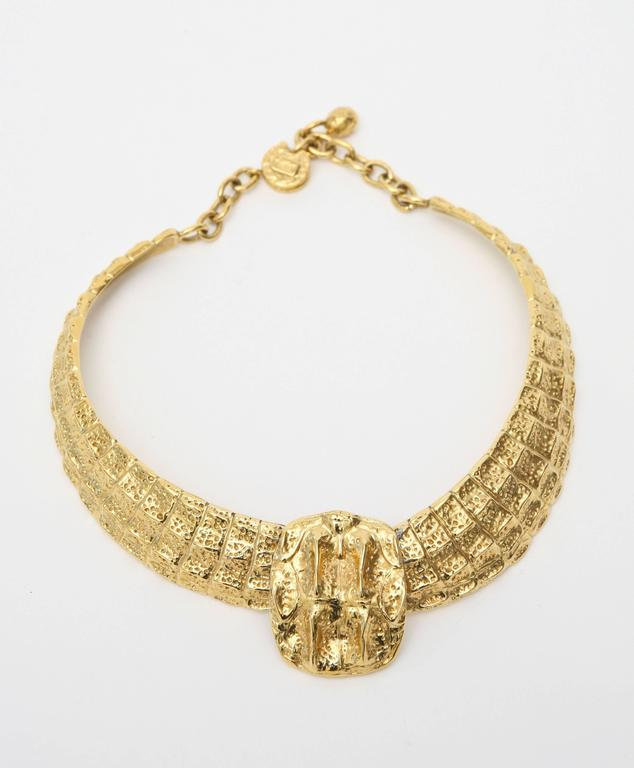 Yves Saint Laurent Collar Necklace Vintage For Sale 2