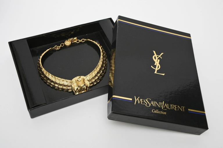 Yves Saint Laurent Collar Necklace Vintage For Sale 5