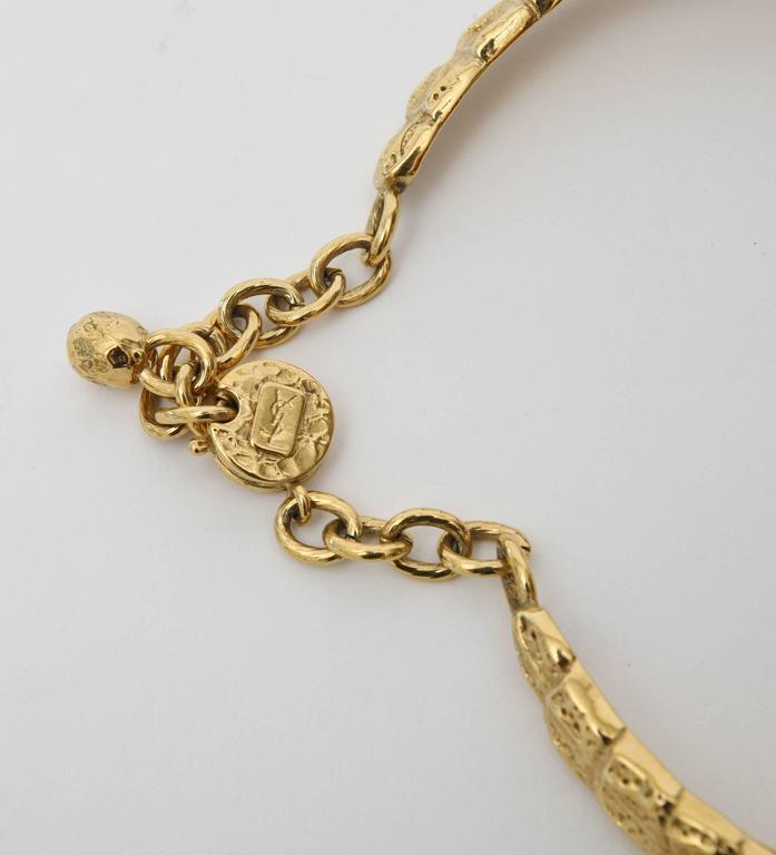 Women's  Yves Saint Laurent Collar Necklace Vintage For Sale