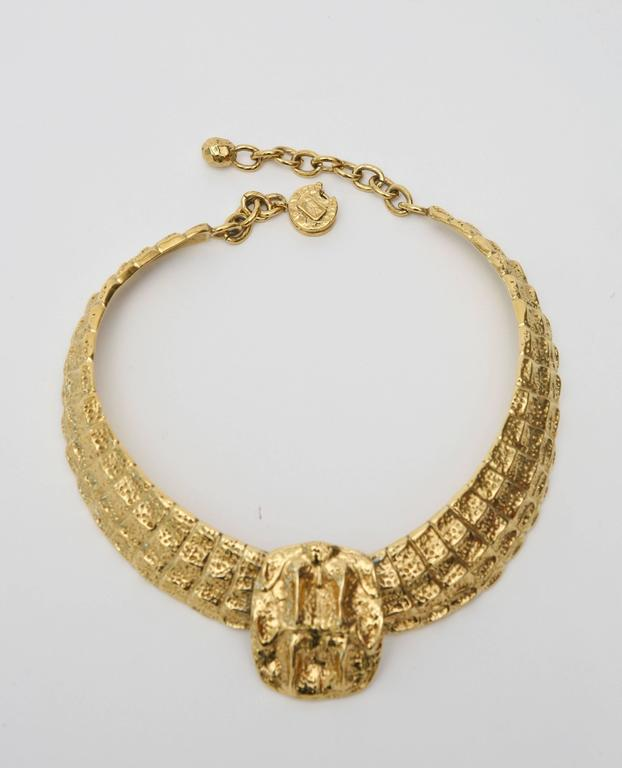 Yves Saint Laurent Collar Necklace Vintage In Good Condition For Sale In North Miami, FL