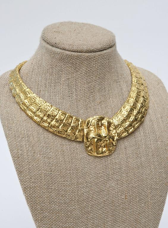 Yves Saint Laurent Collar Necklace Vintage For Sale 3