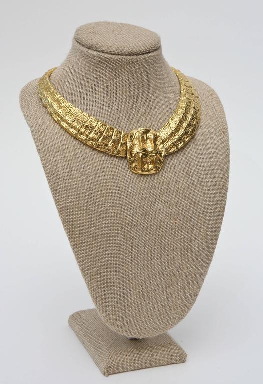 Yves Saint Laurent Collar Necklace Vintage For Sale 4