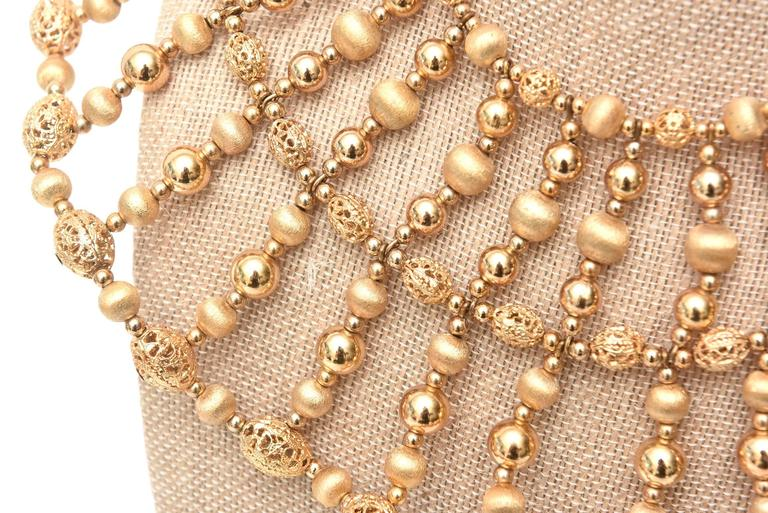 Napier Cleopatra Style Beaded Collar Necklace Vintage For Sale 2