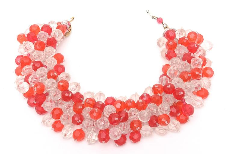 Italian Signed Coppola e Toppo Cluster Beaded Collar Necklace for Pucci 4