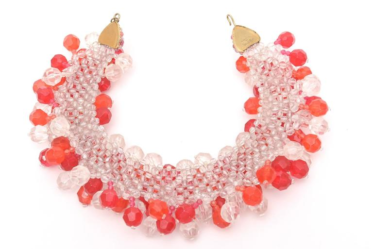 Italian Signed Coppola e Toppo Cluster Beaded Collar Necklace for Pucci 5