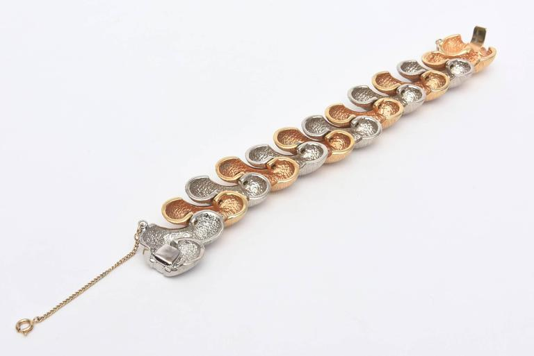 Signed Castlecliff Braided Twisted Gold/Silver Bracelet  For Sale 1