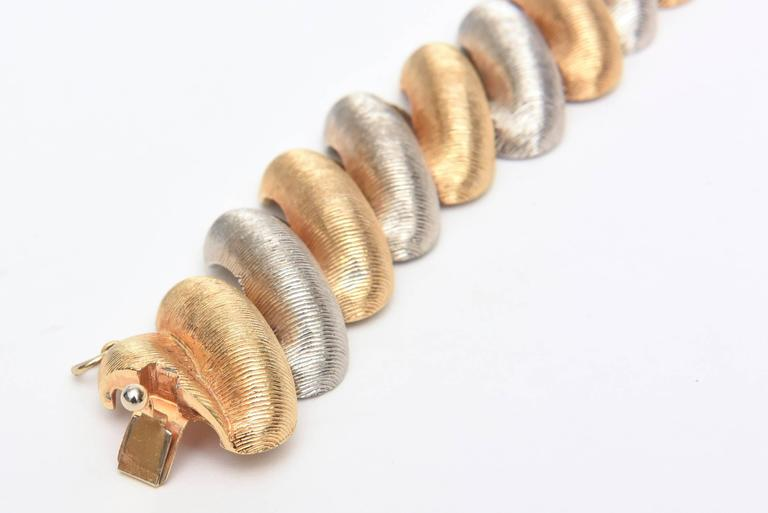 Women's or Men's Signed Castlecliff Braided Twisted Gold/Silver Bracelet  For Sale