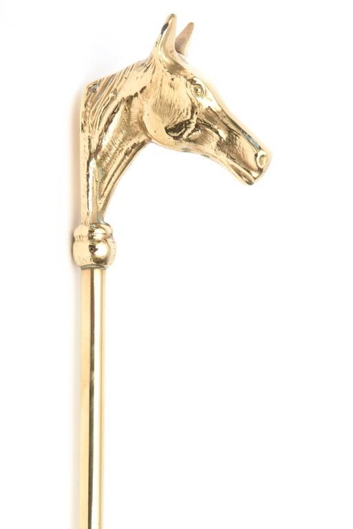 Vintage Brass Horse Head Shoe Horn