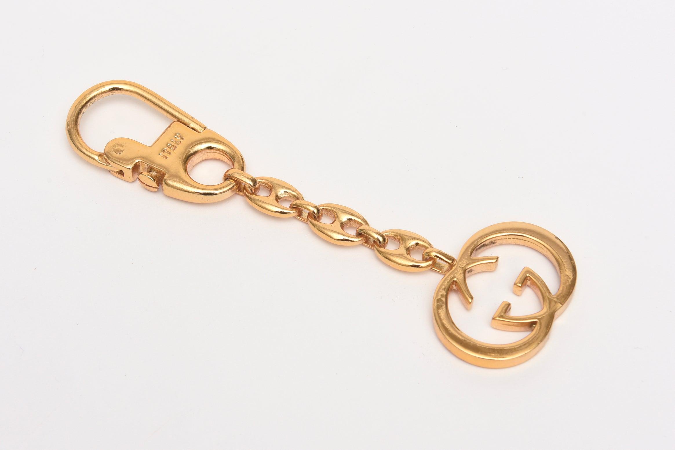 6c54d3b78af Vintage Gucci Gold Plated Keychain at 1stdibs