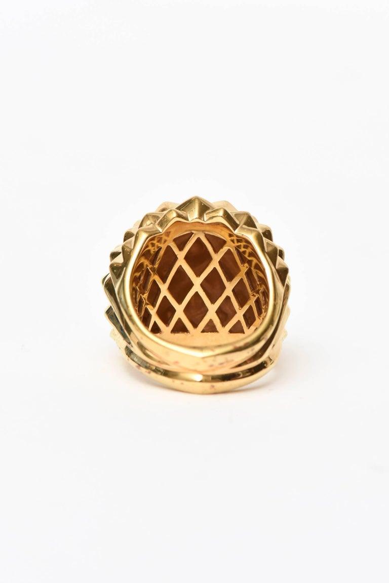 Stephen Webster Gold Plate Over Sterling Silver Stud Dome Ring  For Sale 1