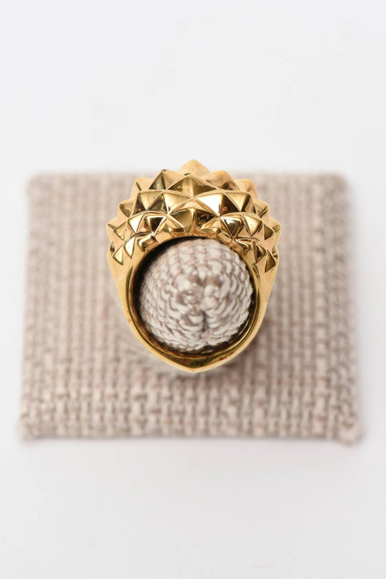 Stephen Webster Gold Plate Over Sterling Silver Stud Dome Ring  For Sale 4