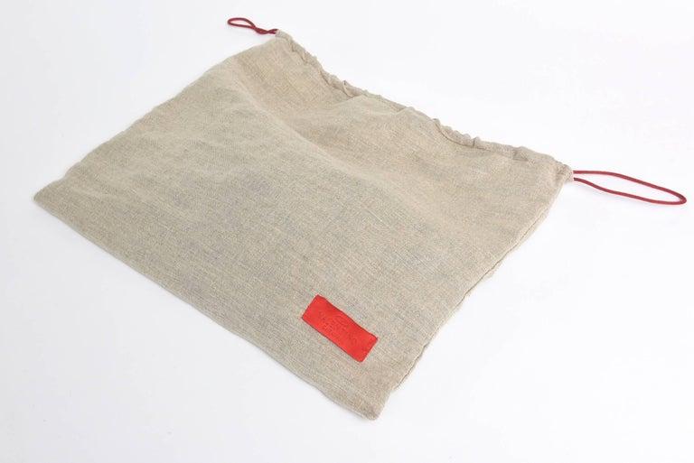 Valentino Silk Satin & Leather Sequined/ Crystals Clutch/ Shoulder Bag 9