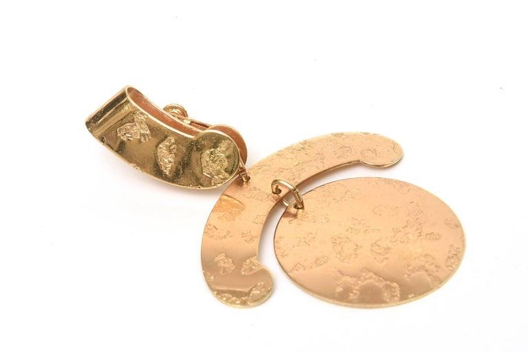 Napier Vintage Clip On Sculptural Earrings For Sale 3
