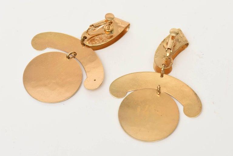 Modern  Napier Vintage Clip On Sculptural Earrings For Sale