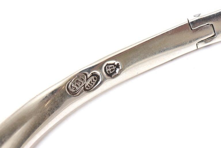 Sterling Silver Hallmarked Sigi Mid Century  Modern Sculptural Collar Necklace For Sale 4