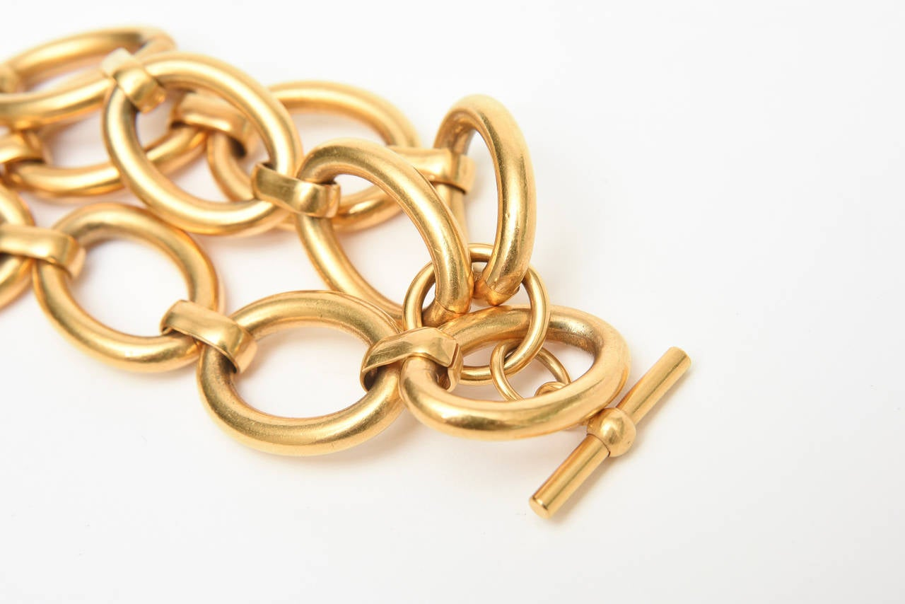 Yves saint laurent link bracelet at 1stdibs - Bracelet yves saint laurent ...