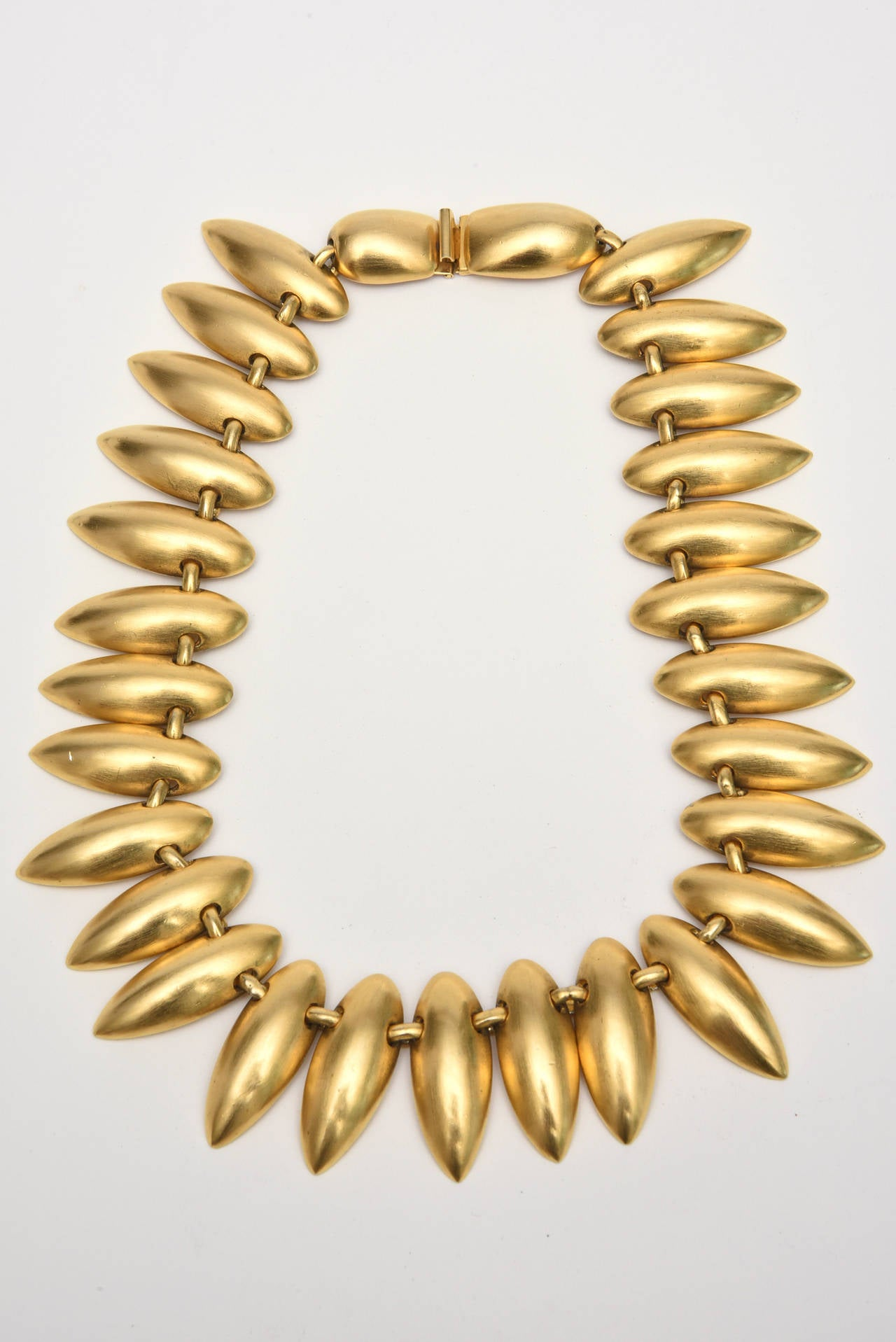 Sculptural Gold Plated Necklace & Earrings 2