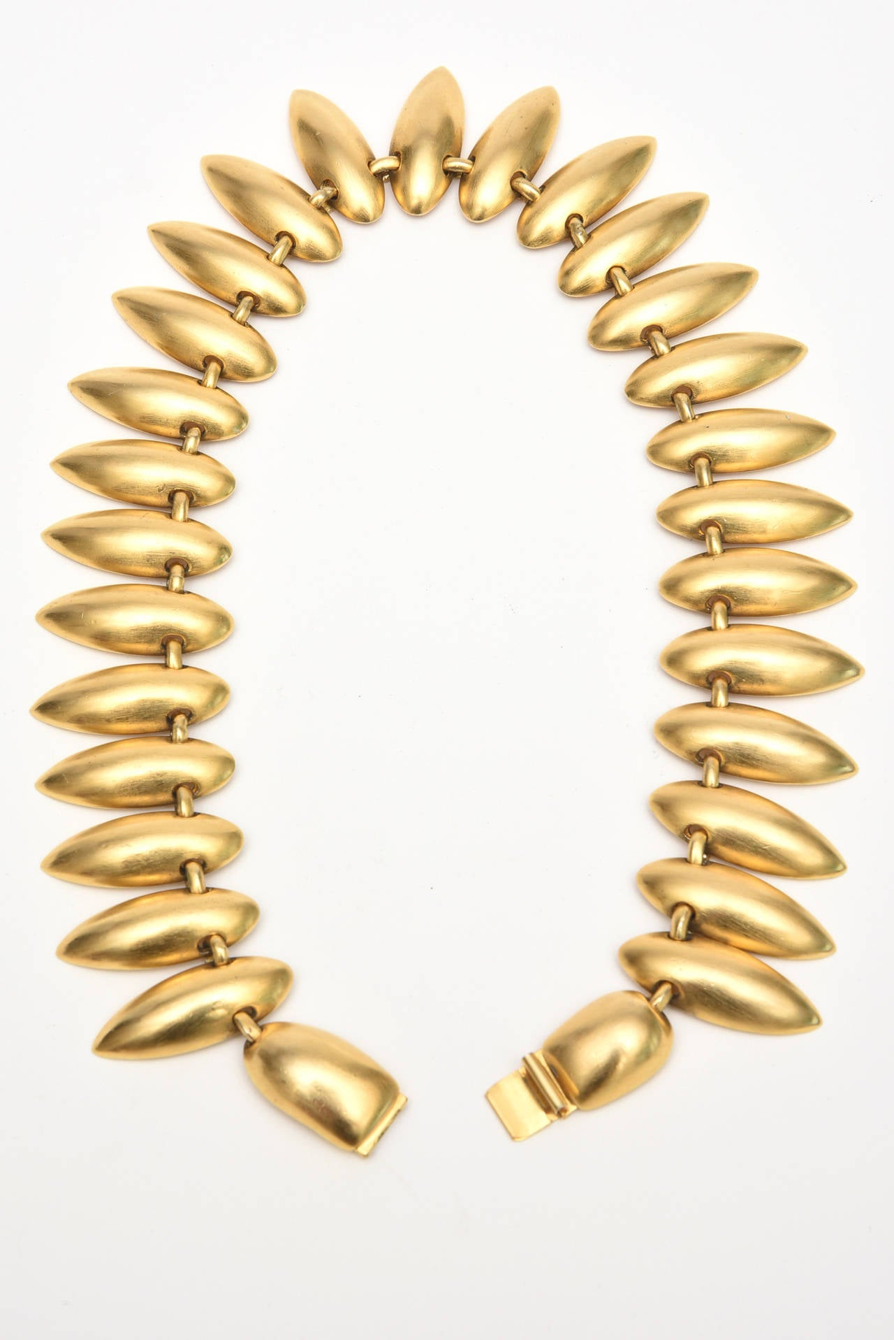 Sculptural Gold Plated Necklace & Earrings 6