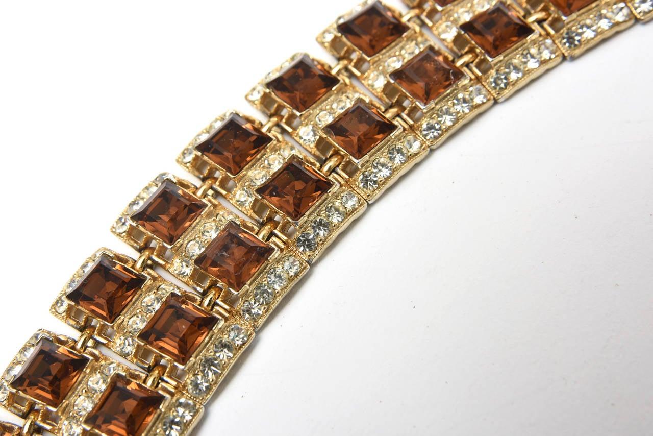 Stunning signed mid century vintage bogoff rhinestone for Bogoff vintage costume jewelry