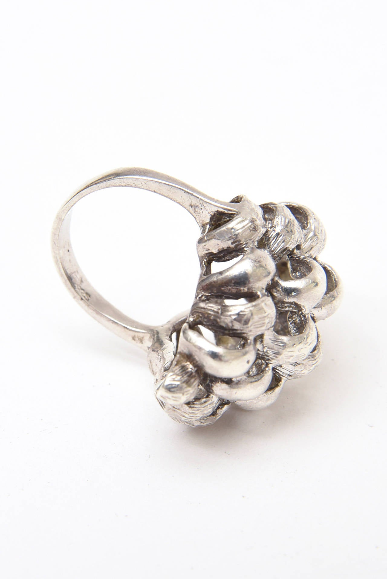 Sculptural Sterling Silver Ring For Sale 2