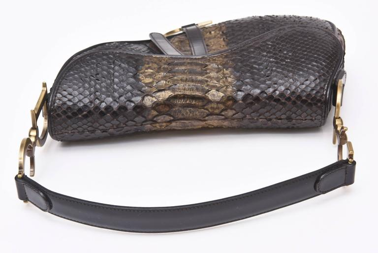 8a357dbcc88 Early Limited Edition John Galliano for Christian Dior Python Saddle Bag /  SALE For Sale 2