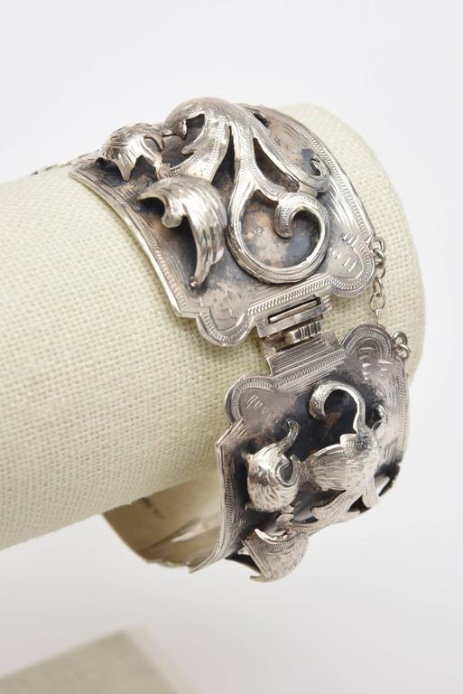 Modern  Sterling Silver Bracelet Signed Vintage For Sale