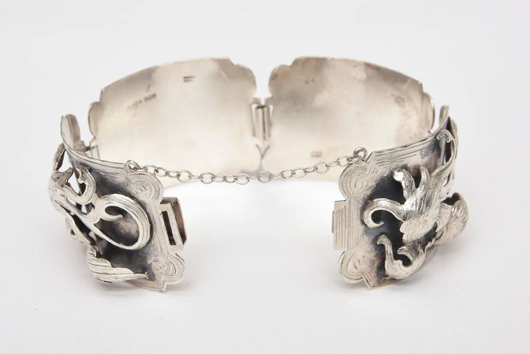 Women's  Sterling Silver Bracelet Signed Vintage For Sale