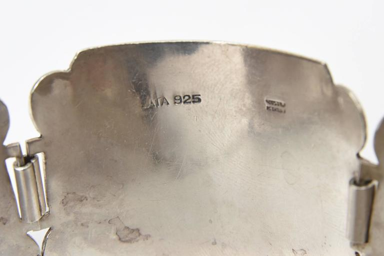 Sterling Silver Bracelet Signed Vintage For Sale 2