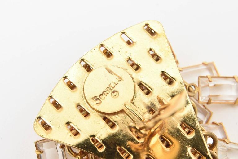 Women's  Surrell Cascading Glass Sculptural Earrings Italian Vintage For Sale