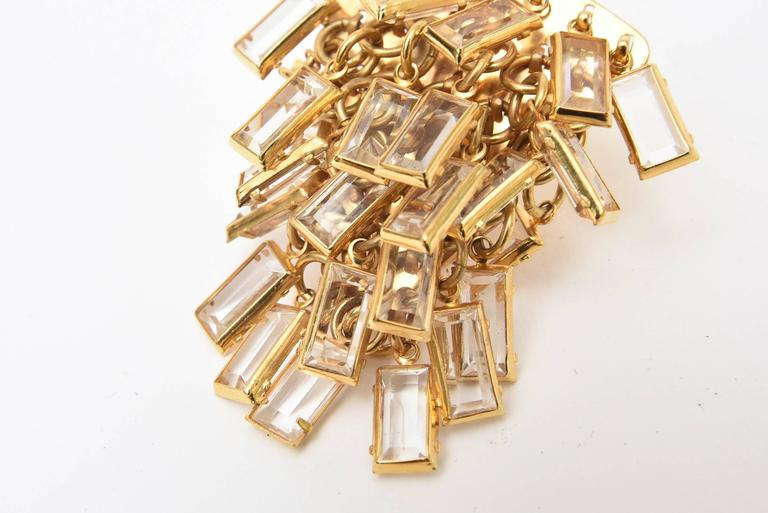 Surrell Cascading Glass Sculptural Earrings Italian Vintage For Sale 1