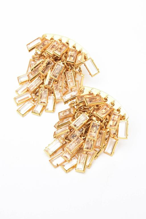 Surrell Cascading Glass Sculptural Earrings Italian Vintage For Sale 2