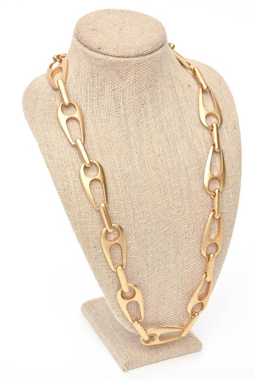 Sculptural Link Necklace Attributed to Alexis Kirk In Good Condition For Sale In North Miami, FL