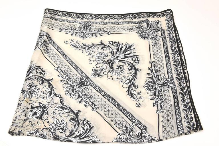 Versace Silk Monumental Scarf/ Shawl/ Throw/ NEW SALE PRICE For Sale 2