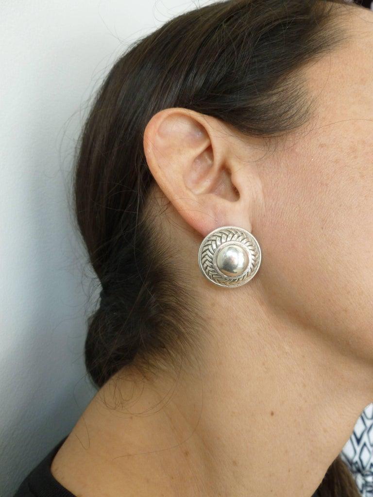Barry Kieselstein-Cord Cord Sterling Silver Pierced Lever Back Earrings  For Sale 5