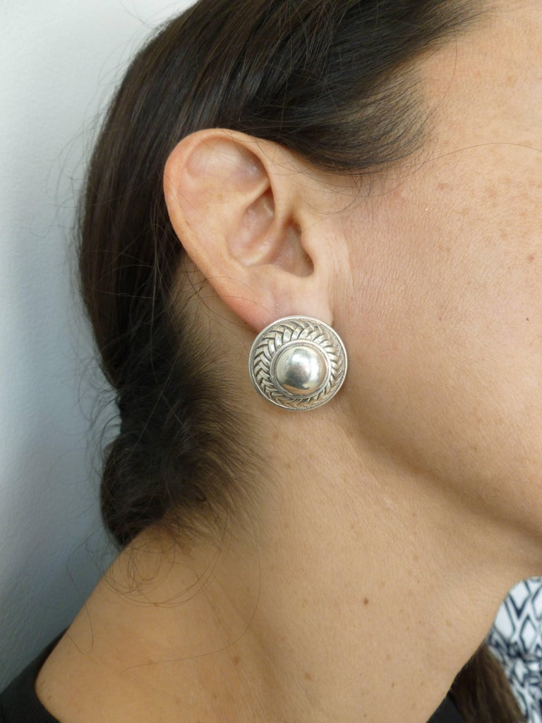 Barry Kieselstein-Cord Cord Sterling Silver Pierced Lever Back Earrings  For Sale 6