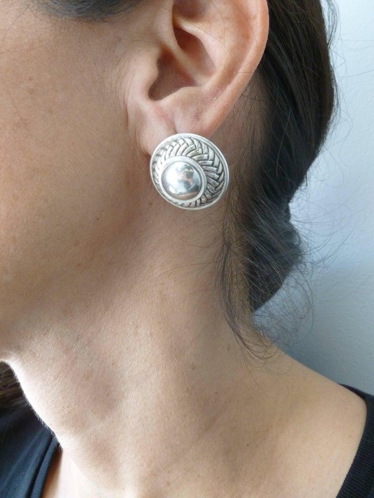 Barry Kieselstein-Cord Cord Sterling Silver Pierced Lever Back Earrings  For Sale 7