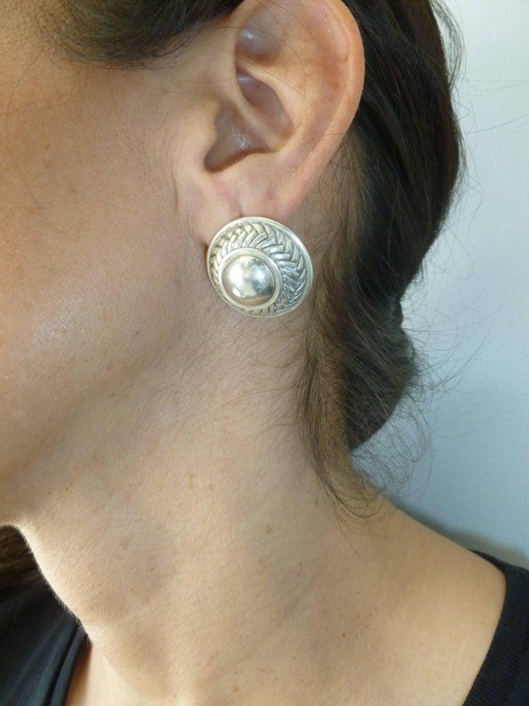 Barry Kieselstein-Cord Cord Sterling Silver Pierced Lever Back Earrings  For Sale 8