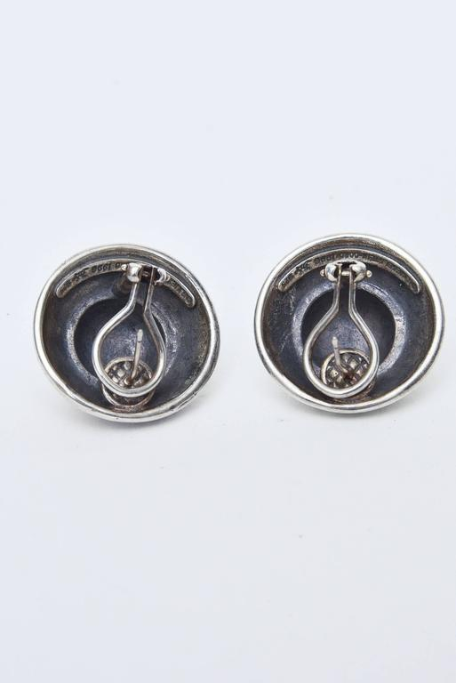 Barry Kieselstein-Cord Cord Sterling Silver Pierced Lever Back Earrings  In Good Condition For Sale In North Miami, FL