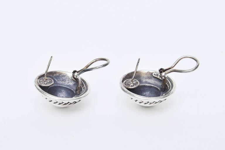 Women's  Barry Kieselstein-Cord Cord Sterling Silver Pierced Lever Back Earrings  For Sale