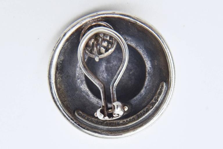 Barry Kieselstein-Cord Cord Sterling Silver Pierced Lever Back Earrings  For Sale 1