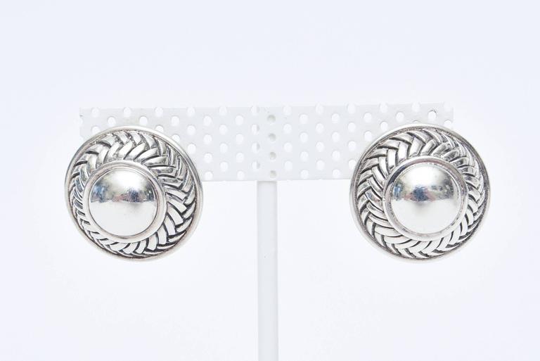 Barry Kieselstein-Cord Cord Sterling Silver Pierced Lever Back Earrings  For Sale 4