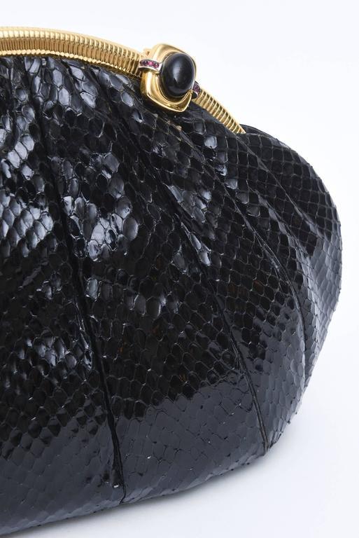 Black Snakeskin Large Judith Leiber Clutch For Sale At 1stdibs