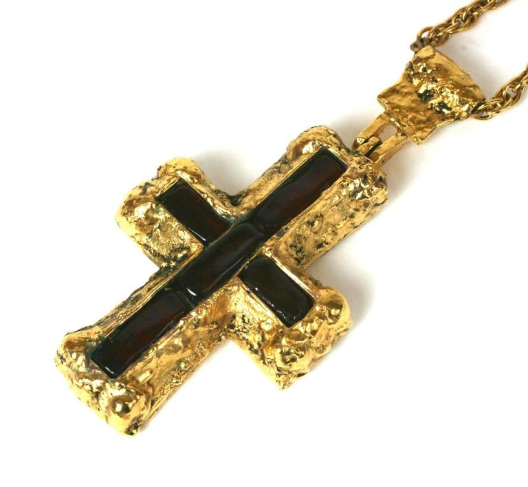 Women's Important CoCo Chanel Personal Medieval Cruciform Pendant Necklace For Sale