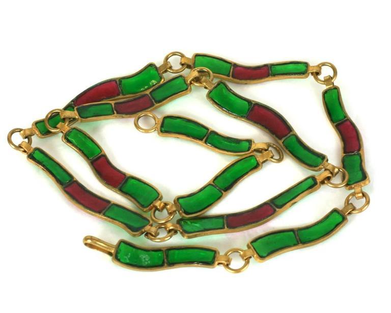CoCo Chanel Pate De Verre Poured  Byzantine Glass Belt, Workshop Maison Gripoix 4