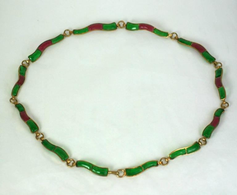 CoCo Chanel Pate De Verre Poured  Byzantine Glass Belt, Workshop Maison Gripoix 2