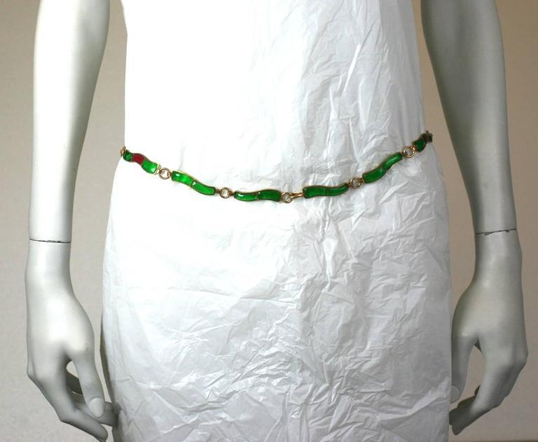 CoCo Chanel Pate De Verre Poured  Byzantine Glass Belt, Workshop Maison Gripoix 6