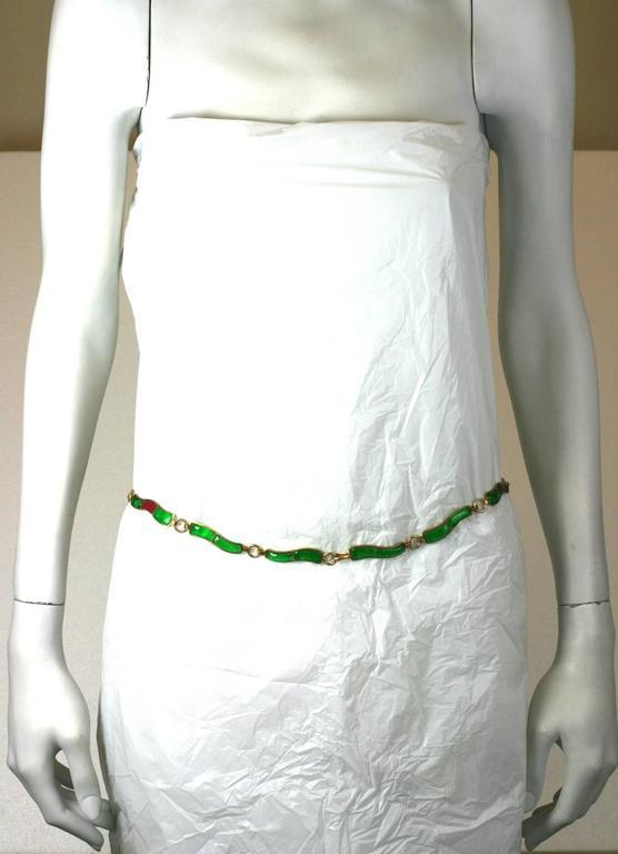 CoCo Chanel Pate De Verre Poured  Byzantine Glass Belt, Workshop Maison Gripoix 5