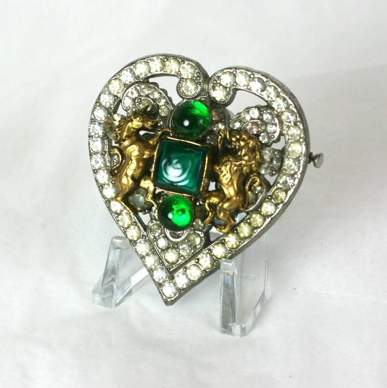 CoCo Chanel Byzantine Heart Crest Brooch 5
