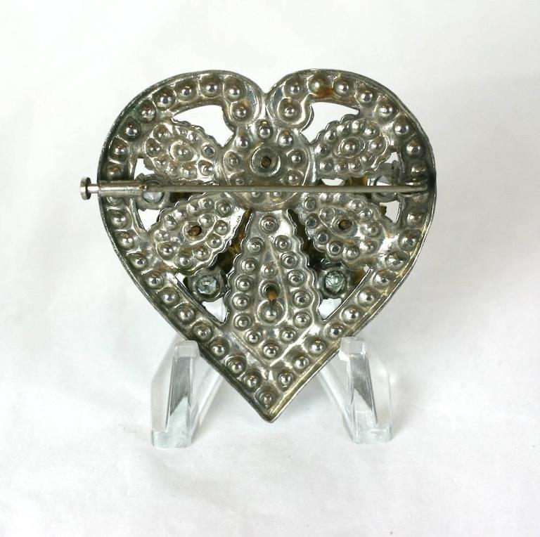 CoCo Chanel Byzantine Heart Crest Brooch 4