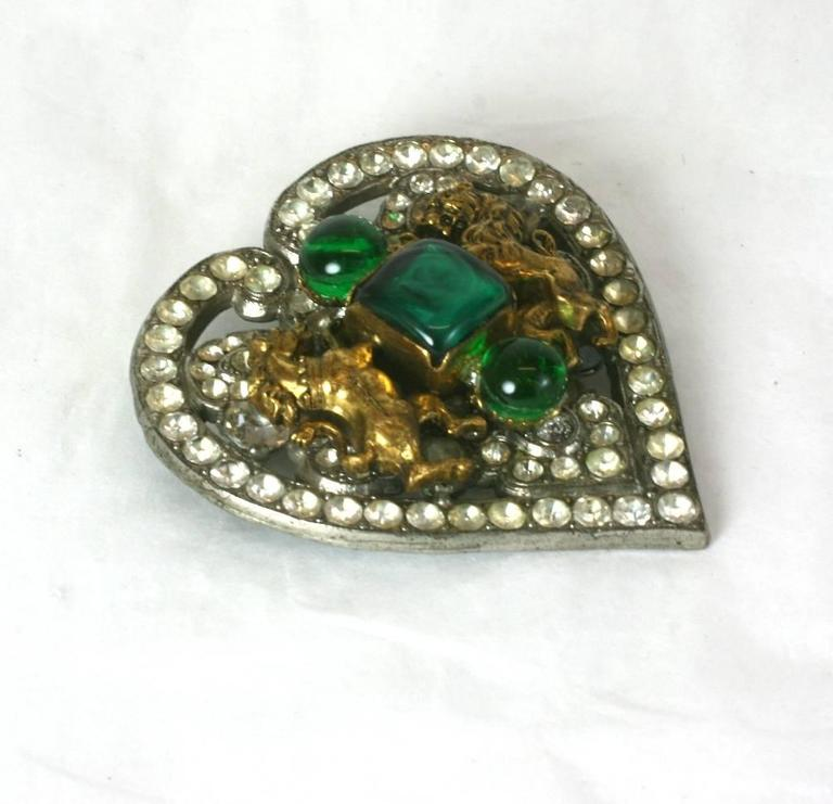 CoCo Chanel Byzantine Heart Crest Brooch 2